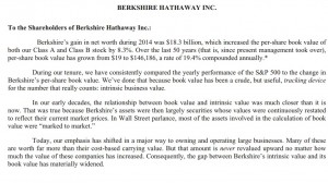 2014 Berkshire Hathaway Annual Letter
