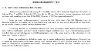 2014 Berkshire Hathaway Annual Letter - Shareholder Letter
